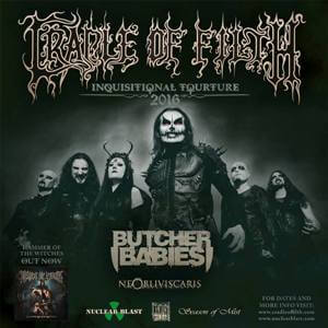 Cradle Of Filth тур