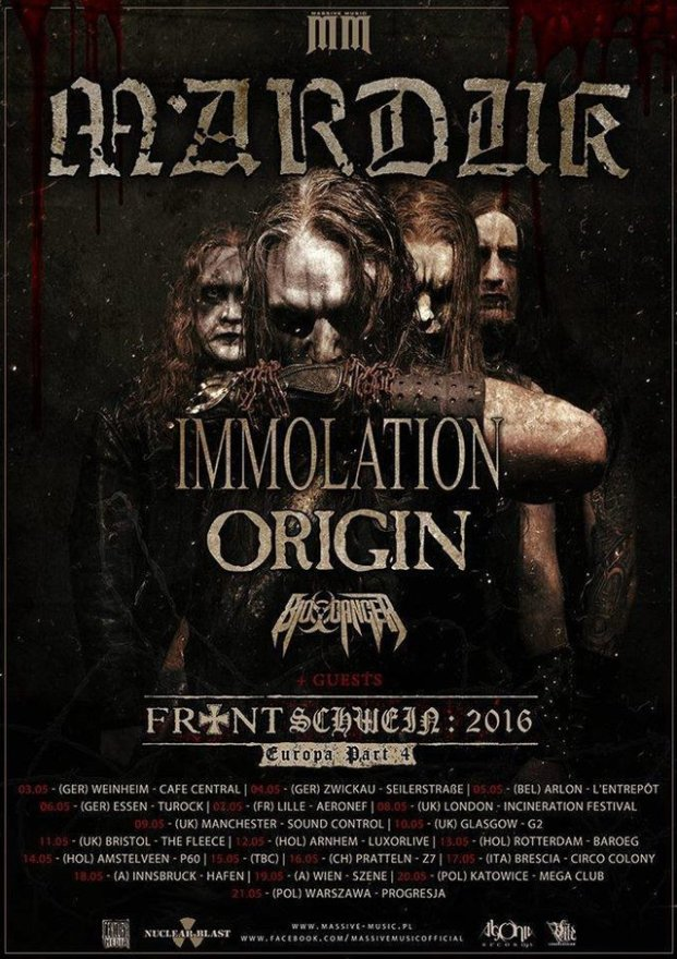 Immolation тур 2016