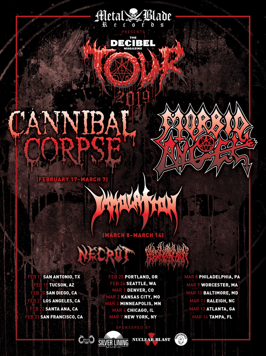 Cannibal Corpse и Morbid Angel